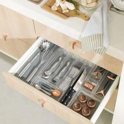 Organizar cozinha com porta talheres de gaveta