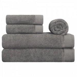 Comprar jogo de toalhas 100% algodão cinza