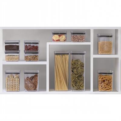 Potes empilháveis organizadores de armário de cozinha