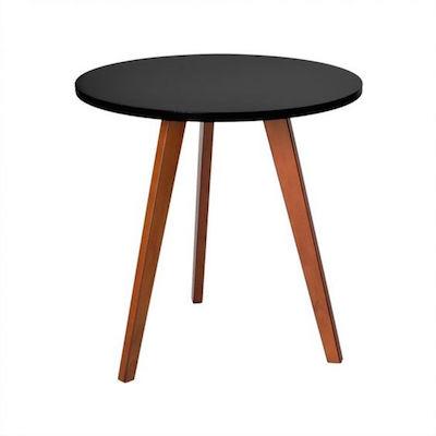 Móveis para varanda: comprar mesa lateral preta e madeira pequena