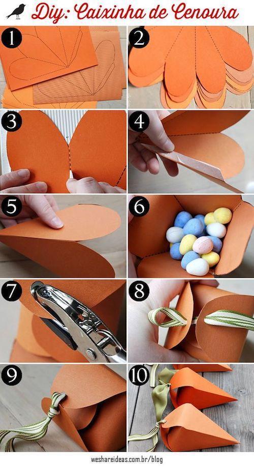 Artesanato de papel para decoração de páscoa