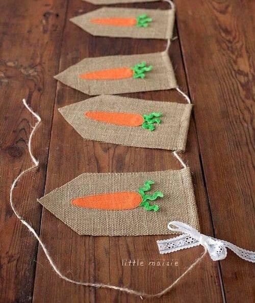 Bandeirinha de decoração de páscoa simples