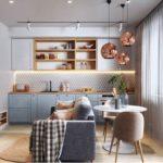 Decoração de apartamento pequeno com tons claros e ambiente integrado