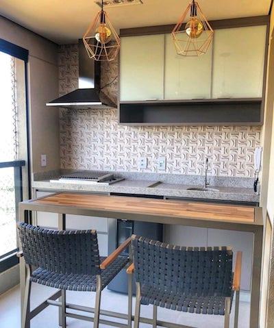 Apartamento pequeno com varanda gourmet