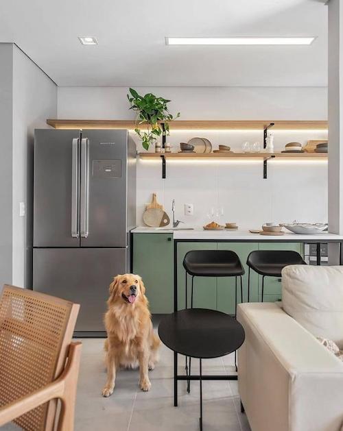 Cozinha americana de apartamento