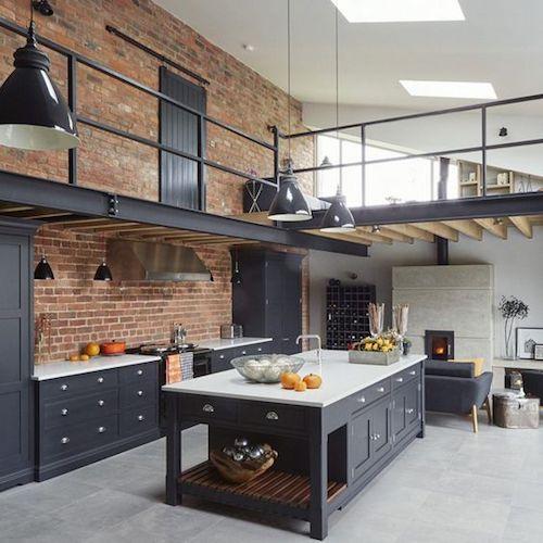 Loft com estilo de decoração industrial