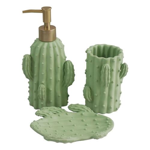 Kit de banheiro de cerâmica de cacto