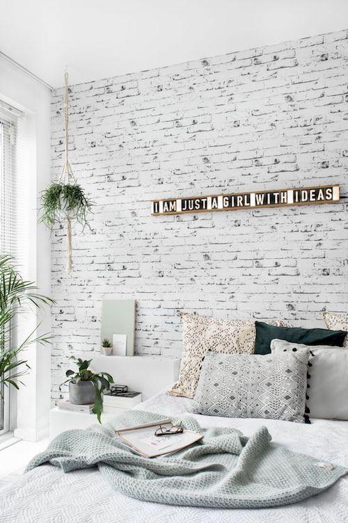 Papel de parede na decoração do quarto de casal
