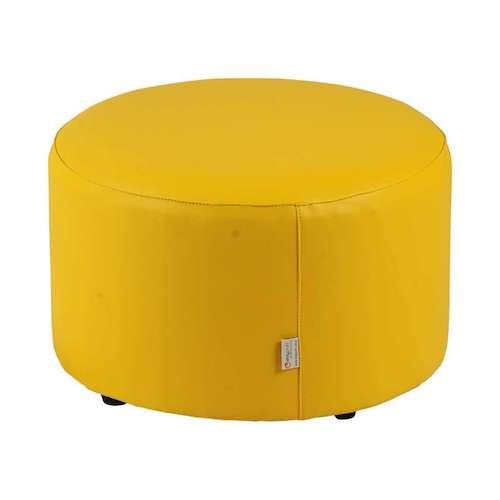 Banco estofado amarelo