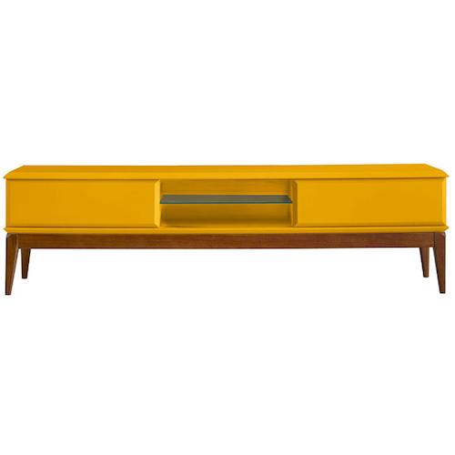 Rack de sala amarelo