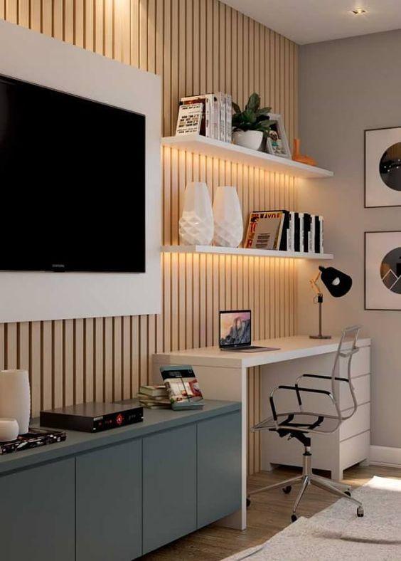Home office na sala: Saiba mais sobre essa tendência e dicas de como fazer!
